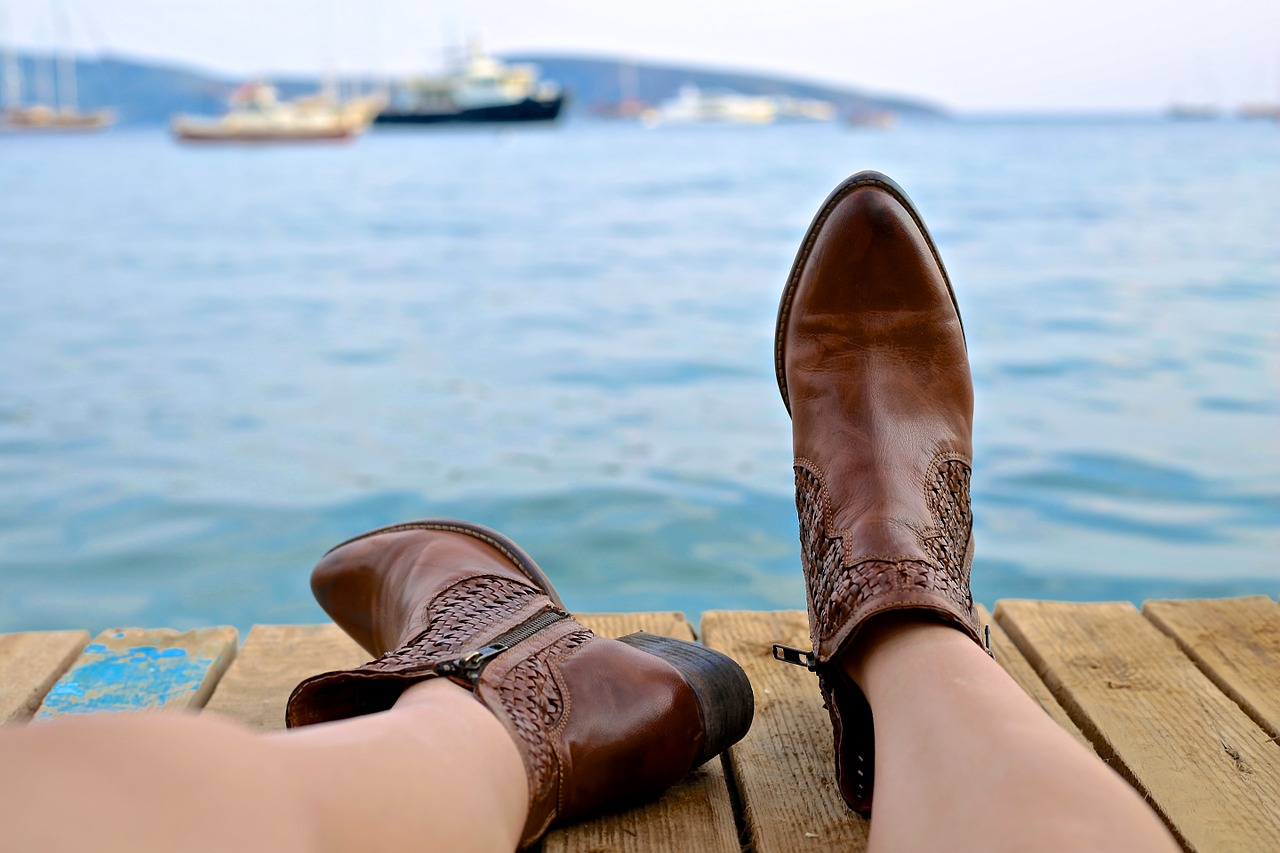 boots leather relax
